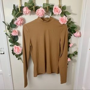 H&M Ribbed High Neck Long Sleeves Top
